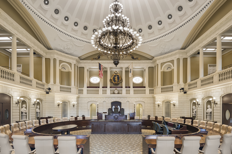 Massachusetts Senate Chamber Unveiled   CBT
