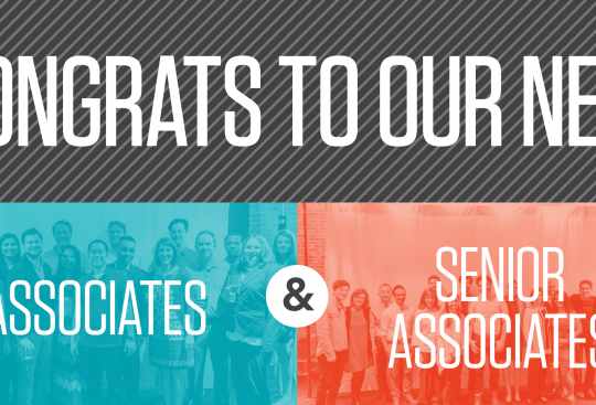 CBT Announces Associate and Senior Associate Promotions