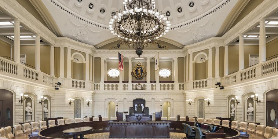 Massachusetts State House Senate Chamber
